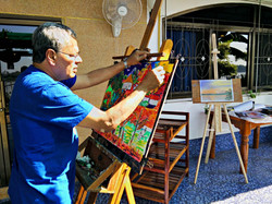 Artist Rohan enjoying a painting holiday in Thailand  000