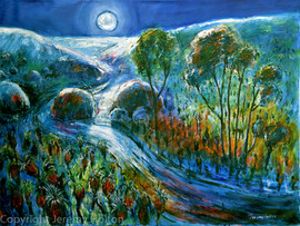 Silver moon - Perth Australia Painting.j