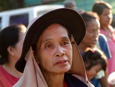 Asian lady face closeup