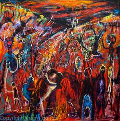 Abstract Australian aboriginal painting.