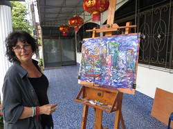 Artist Lydia enjoying a painting holiday in Thailand  003