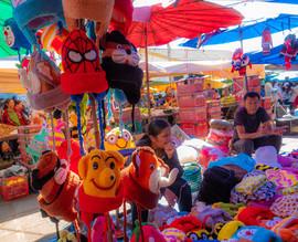 Brilliant colours of children's toys in