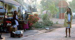 Thailand village street scene cooking sm