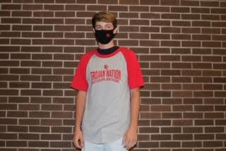 Red Trojan Nation Baseball Tee