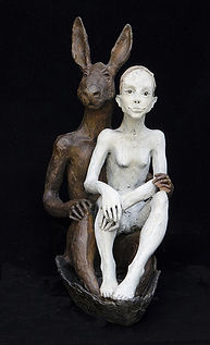 le lapin et le fille bronzeLEG.jpg
