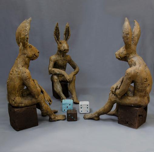 lRuta Jusionyte Les lapins joueurs de de