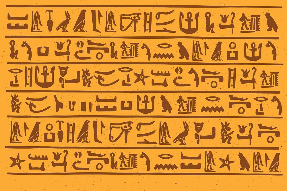 סמלים קדמוניים | דרך תקשורת ושפה - אינפוגרפיקה של ימי קדם