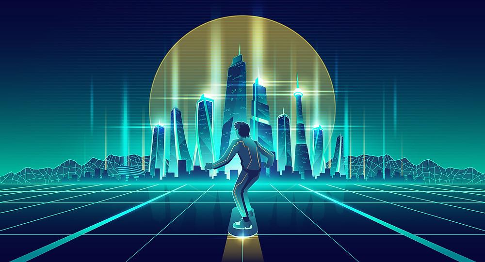 טרנדים-עיצוב-גרפי-2021 | רטרו לעיצוב עתידני