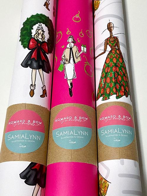 2020 Trio Holiday Gift Wrap -  SamiaLynn X Howard & Bow