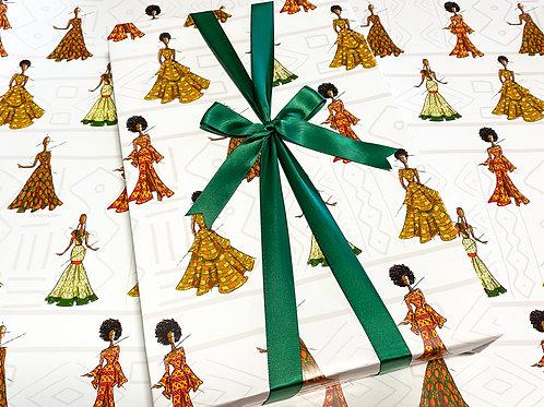 African Fashion Gift Wrap -  SamiaLynn X Howard & Bow