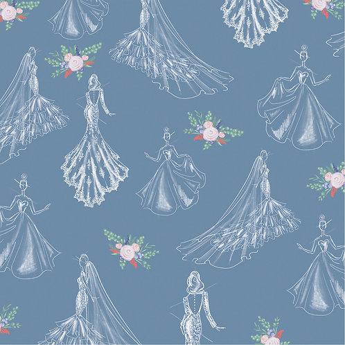 Something Blue Gift Wrap -  SamiaLynn X Howard & Bow