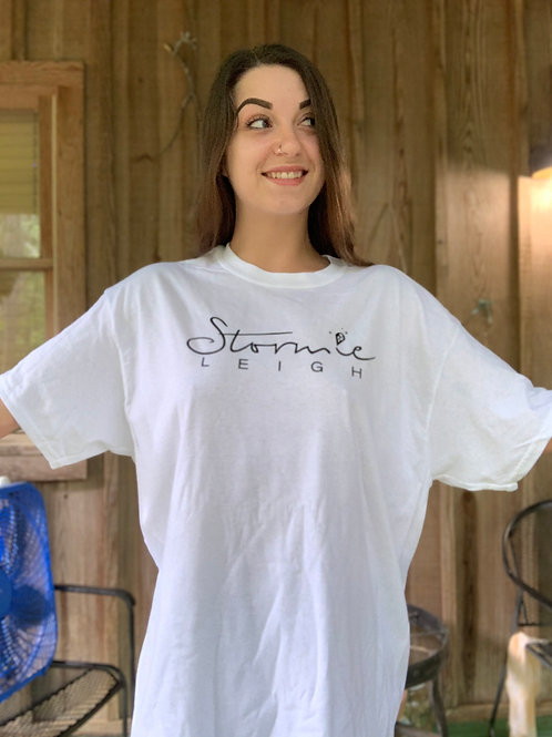 Stormie Leigh Signature Logo T Shirt White