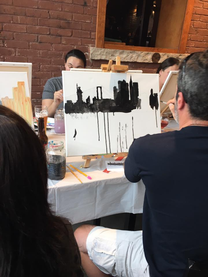 New York Skyline Paint Party
