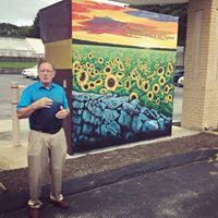 Tom Giard talking about the mural and future ventures!
