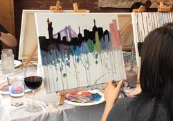 New York Skyline Paint Party
