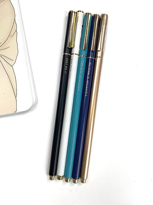 Deluxe Metal Gel Pen (Black Ink)