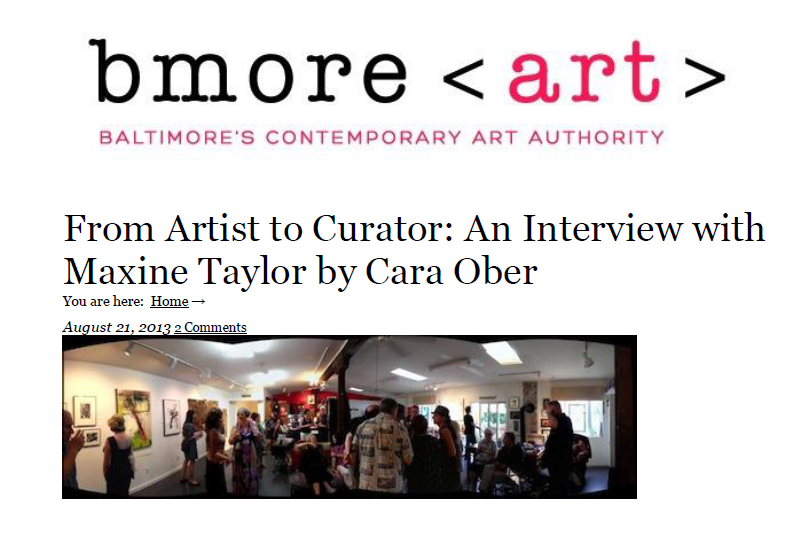 Bmore Art Interview w/Maxine Taylor