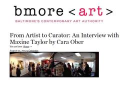Bmore Art Interview w/Maxine Taylor
