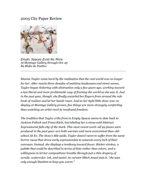 2003 City Paper Review