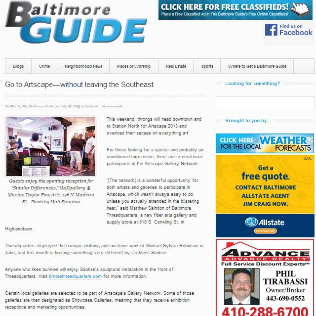 Baltimore Guide Artscape Article