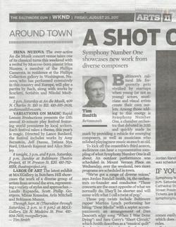 Baltimore Sun mention MAXgallery