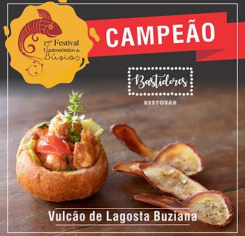 Campeão 17º Festival Gastronômico de Búzios 2018