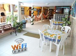 Wi-Fi grátis em toda pousada