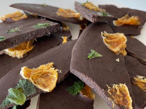 Receita: Barra de chocolate com frutas