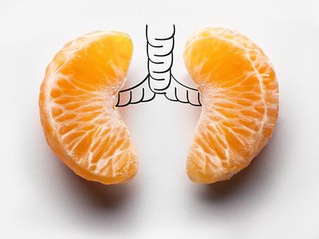 A boa alimentação e as doenças respiratórias.