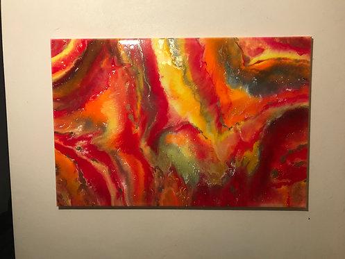 """""""Sunrise/Sunset"""" 24x36 Acrylic Art"""