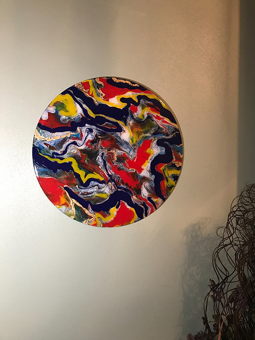 """Celebrate Life"" 18.5"" Acrylic/Resin Art"
