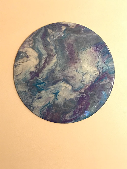 """""""Dancing On The Clouds"""" 18.5"""" Round Abstract"""