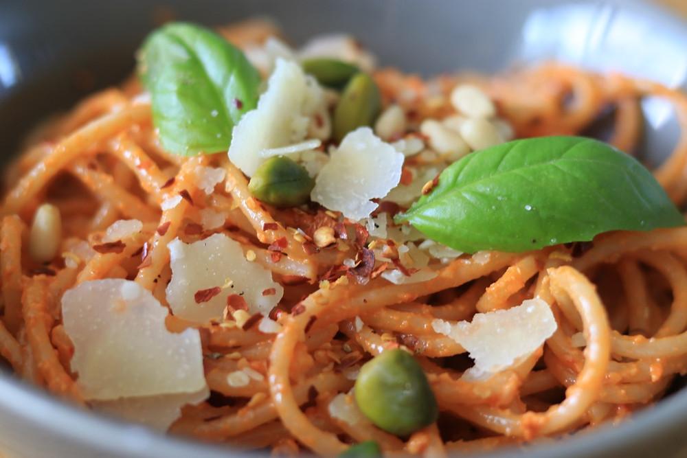 Spaghettis complet, mojo picon
