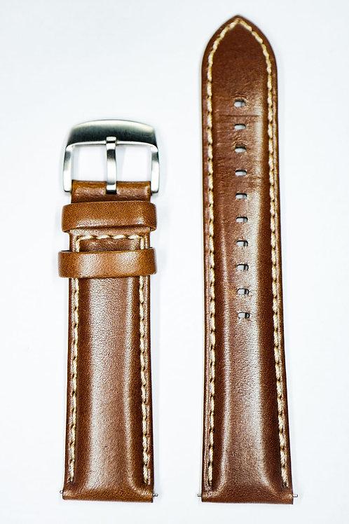 High Quality Dark Brown Italian Leather Strap