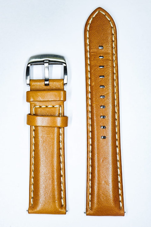 High Quality Brown Italian Leather Strap