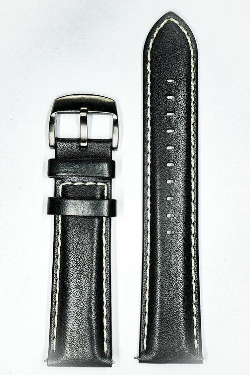 High Quality Black Italian Leather Strap