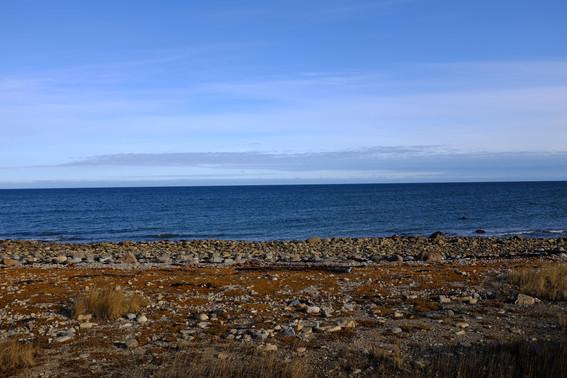 Blue sky, sunny day on Hudson Bay