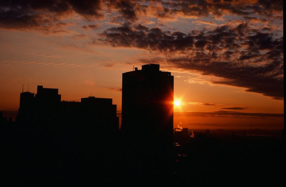 Sunrise in 35 mm