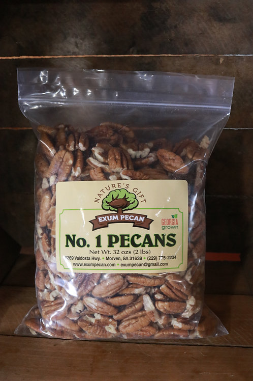 Fresh Shelled Pecans 1lb bag