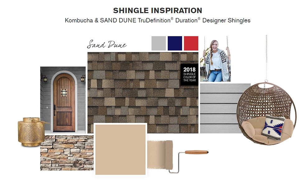 Kombucha & SAND DUNE TruDefinition Duration Designer Shingles