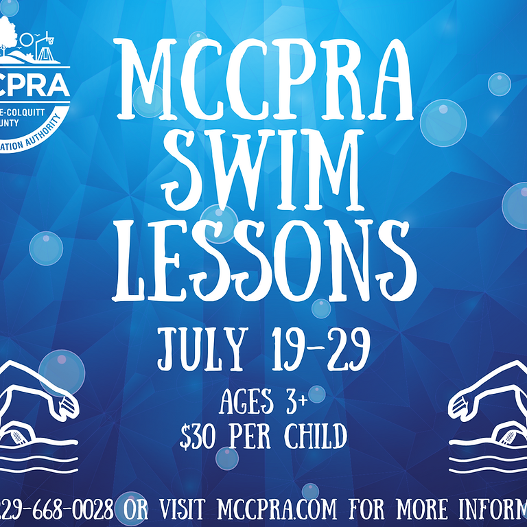 MCCPRA Swim Lessons