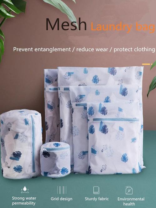 Mesh Laundry Bag - Leaves Zippered