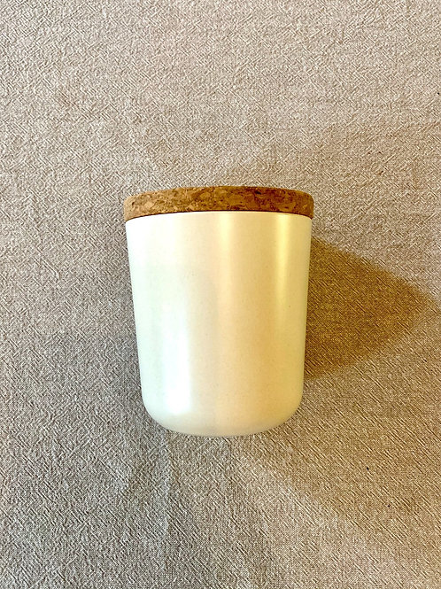 Bamboo Storage Canister white
