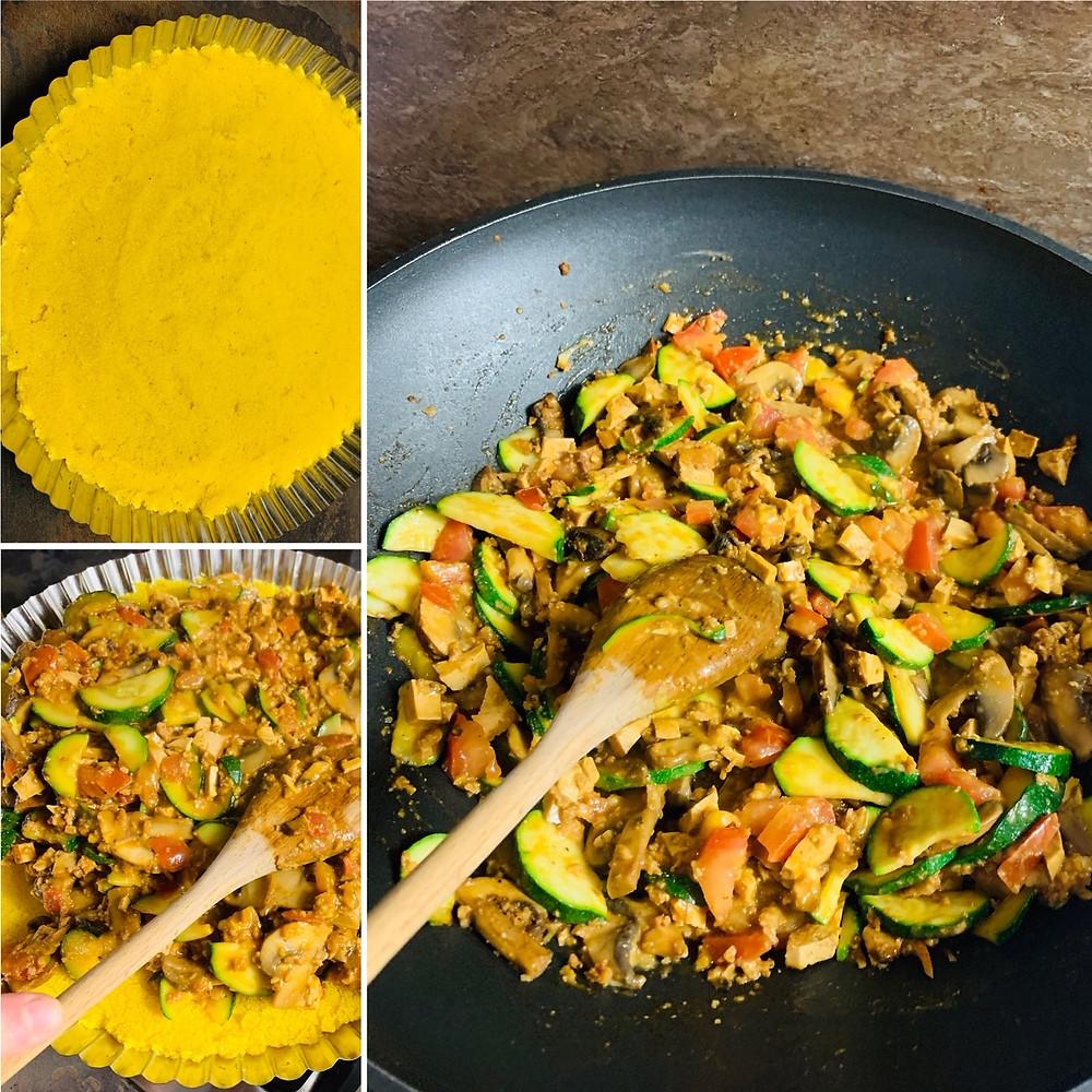 Pure vegan recipe   How to cook delicious gluten free Polenta Quiche? Let's follow this amazing recipe.