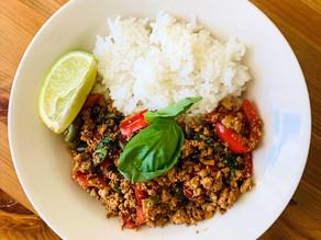 Thai Kra Pao Tofu Rice