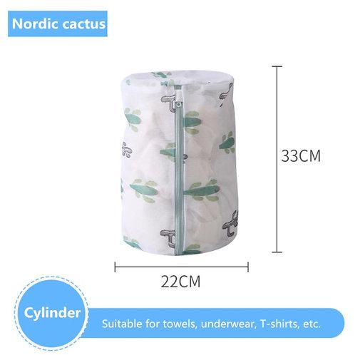 Mesh Laundry Bag - Cactus Zippered