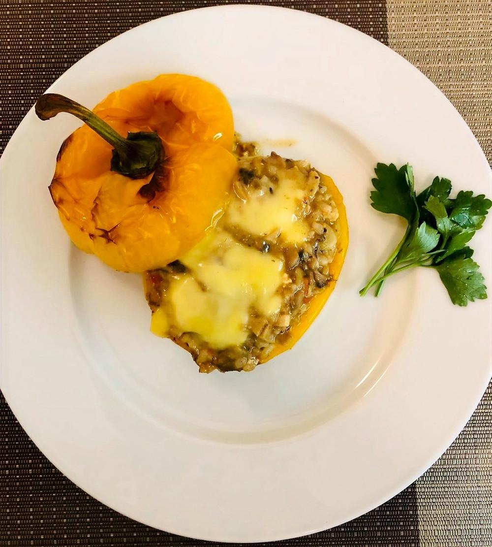 Pure vegan diet | vegan lifestyle| Stuffed roasted pepper