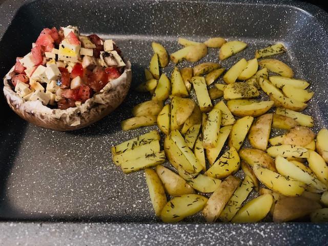 Pure diet | vegan recipe | Stuffed Portobello Mushrooms