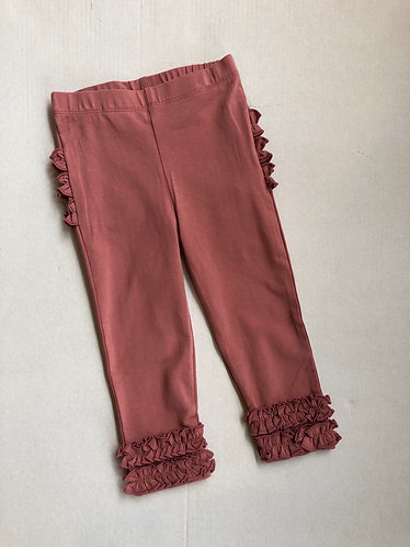 Mauve Ruffle leggings