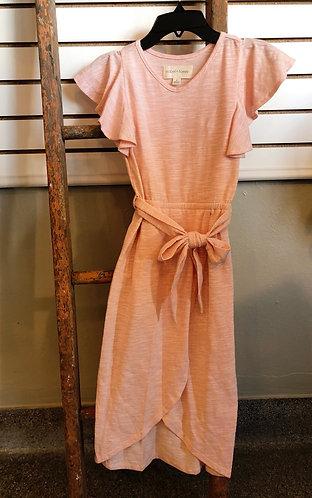 Peach Wrap Dress